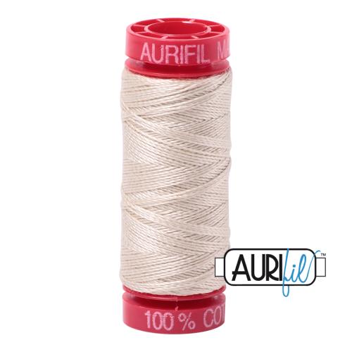 Aurifil ~ 12 wt Cotton ~ 2310 ~ Light Beige