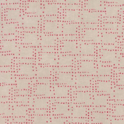 Moda Fabric ~ Flight ~ Rivets Red/Cream