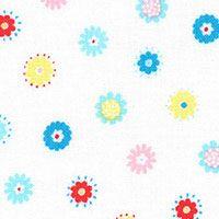 Lecien Fabric ~ Mini Muu ~ Flowers White