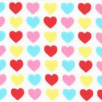 Lecien Fabric ~ Mini Muu ~ Hearts Candy