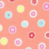 Lecien Fabric ~ Mini Muu ~ Flowers Melon
