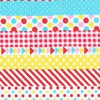 Lecien Fabric ~ Mini Muu ~ Multi Stripe Candy
