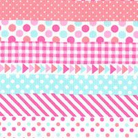 Lecien Fabric ~ Mini Muu ~ Multi Stripe Pastel