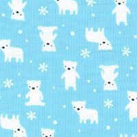 Lecien Fabric ~ Mini Muu ~ Polar Bears Blue