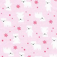 Lecien Fabric ~ Mini Muu ~ Polar Bears Pink