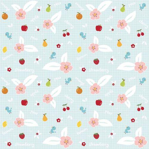Riley Blake ~ Sweet Orchard ~ Fruit Aqua