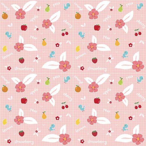 Riley Blake ~ Sweet Orchard ~ Fruit Pink