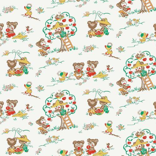 Penny Rose Fabrics ~ Apple Farm ~ Main White