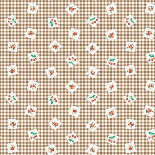 Penny Rose Fabrics ~ Apple Farm ~ Picnic Brown