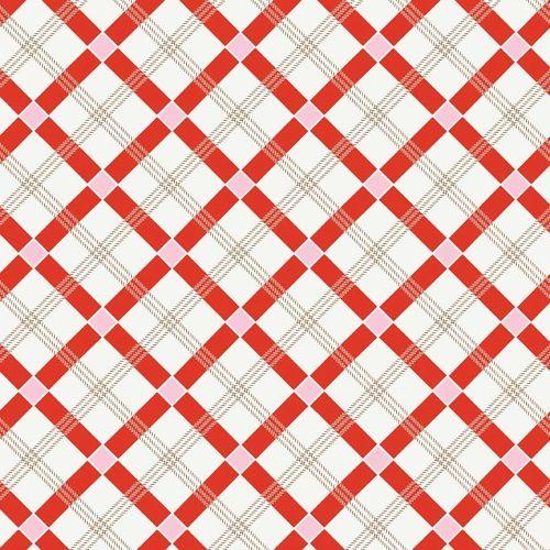 Penny Rose Fabrics ~ Apple Farm ~ Plaid Red