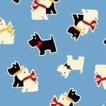 Marcus Brother Fabrics ~ Aunt Grace ~ Scottie Dog Blue