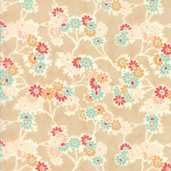 Moda Fabrics ~ Chestnut Street ~ Twigs and Daisies Chestnut