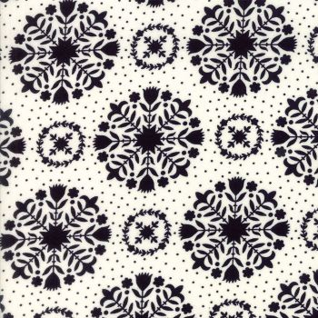 Moda Fabrics ~ Handmade ~ Olivia Black on Cream