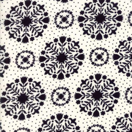 Moda Fabrics ~ Handmade ~ Olivia Black on Cream