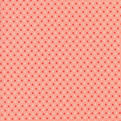 Moda Fabrics ~ Handmade ~ Spots Coral