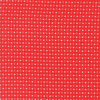 Moda Fabrics ~ Handmade ~ Spots Red