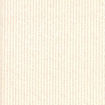 Moda Fabrics ~ Handmade ~ Text Coral on Cream