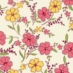 Marcus Brother Fabrics ~ Aunt Grace ~ Wild Flower Yellow and Pink