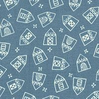 Lecien Fabric ~ American Country ~ House Blue