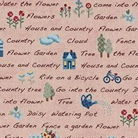 Lecien Fabric ~ American Country ~ Text Pink