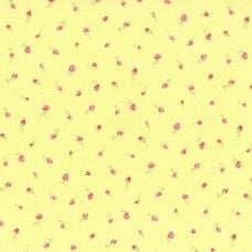 Lecien Fabric ~ Antique Flower Pastel ~ Tiny Rose Bud Yellow