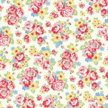 Lecien Fabric ~ Retro 30's Smile Child ~ Bouquet Ivory