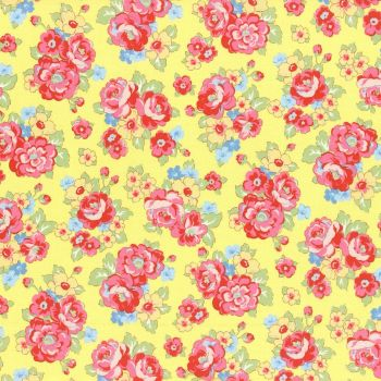 Lecien Fabric ~ Retro 30's Smile Child ~ Bouquet Yellow