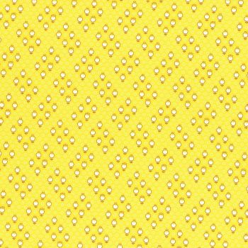 Lecien Fabric ~ Retro 30's Smile Child ~ Circle Flower Yellow