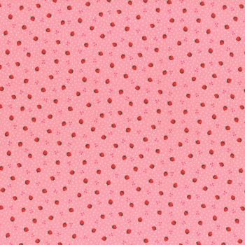 Lecien Fabric ~ Retro 30's Smile Child ~ Strawberries Pink
