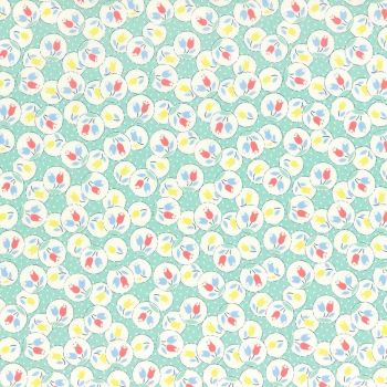 Lecien Fabric ~ Retro 30's Smile Child ~ Tulips Aloe