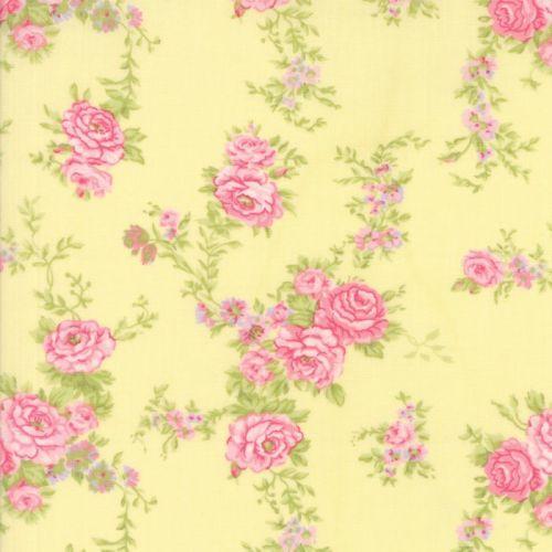 Moda Fabric ~ Fleurs ~ Climbing Fleurs Buttercup