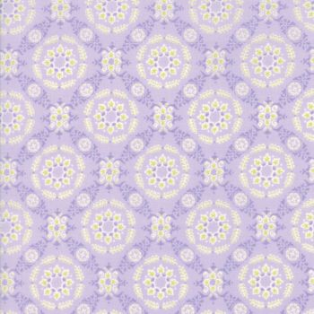 Moda Fabric ~ Fleurs ~ Circle Lattice Wisteria