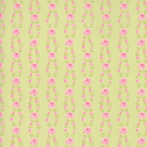 Moda Fabric ~ Fleurs ~ Fleur Stripe Sprout