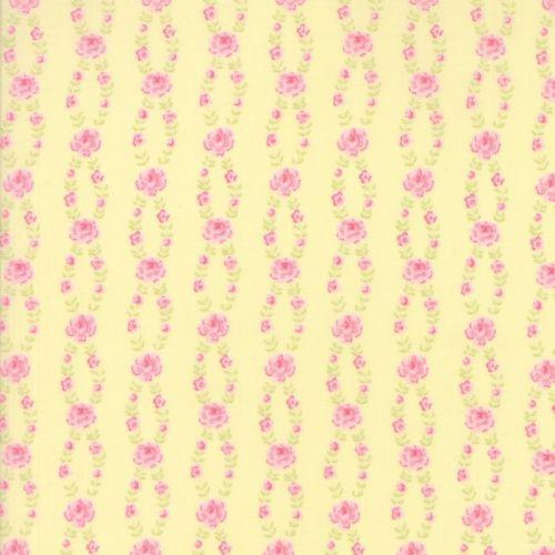 Moda Fabric ~ Fleurs ~ Fleur Stripe Buttercup