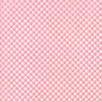 Moda Fabric ~ Fleurs ~ Pinstripe Gingham Peony