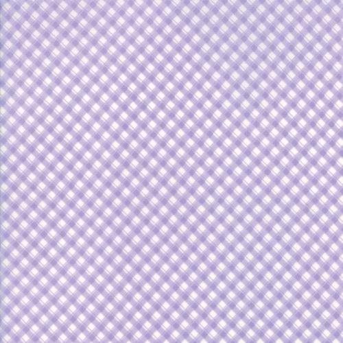 Moda Fabric ~ Fleurs ~ Pinstripe Gingham Wisteria