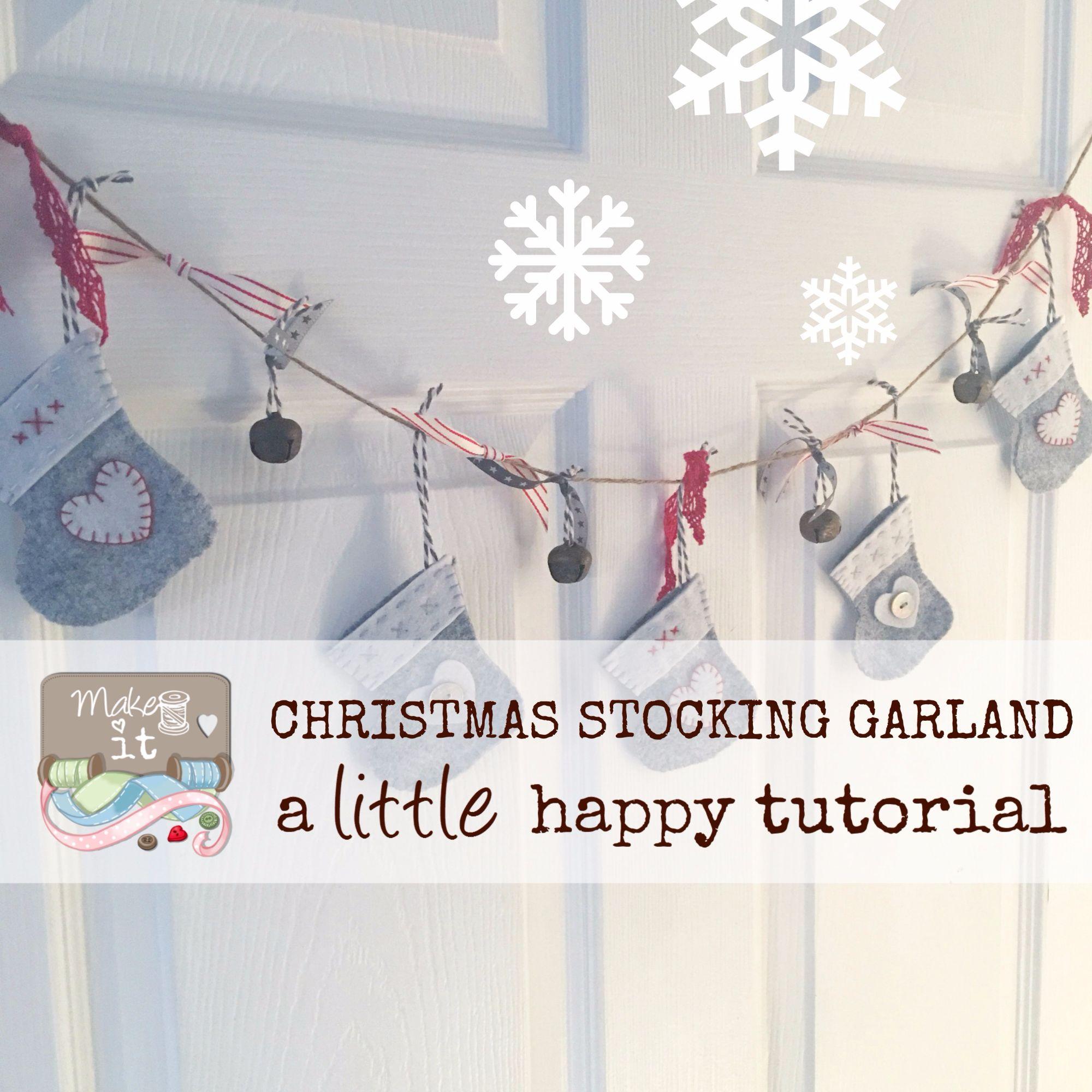Make it Christmas Garland Stocking
