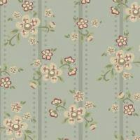 Windham Fabrics ~ Elm Cottage ~ Floral Stripe Blue