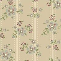 Windham Fabrics ~ Elm Cottage ~ Floral Stripe Cream