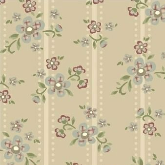 Windham Fabrics ~ Elm Cottage ~ Floral Stripe Cream
