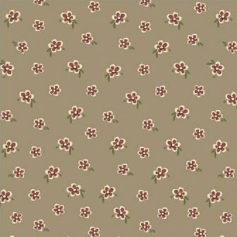 Windham Fabrics ~ Elm Cottage ~ Mini Floral Brown