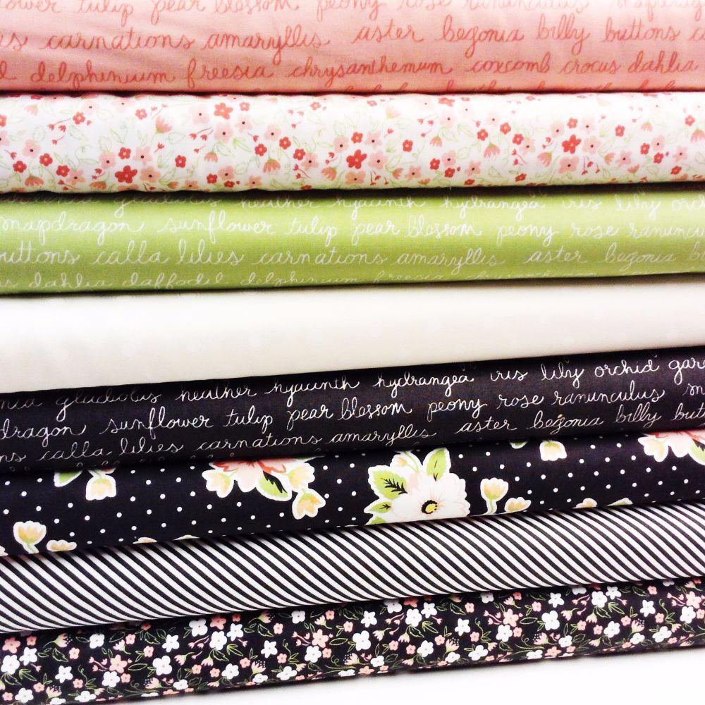 Moda Fabric ~ Olive's Flower Market