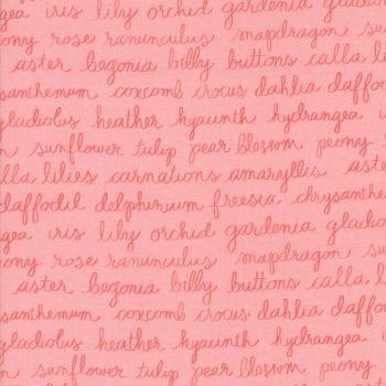 Moda Fabrics ~ Olive's Flower Market ~ Floriculture Pretty Pink