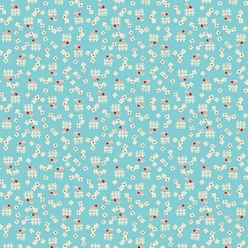 Penny Rose Fabrics ~ Toy Chest 2 ~ Floral Aqua
