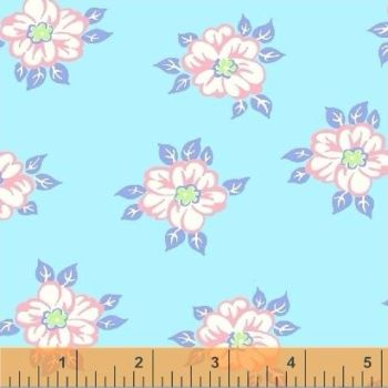 Windham Fabrics ~ First Blush ~ Garden Posy Aqua