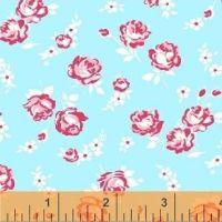 Windham Fabrics ~ First Blush ~ Roses & Daisies Aqua