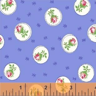Windham Fabrics ~ First Blush ~ Spray Rose Blue