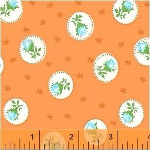 Windham Fabrics ~ First Blush ~ Spray Rose Orange