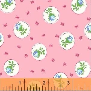 Windham Fabrics ~ First Blush ~ Spray Rose Pink