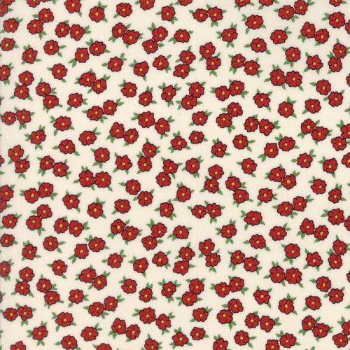 Moda Fabrics ~ Hop, Skip and a Jump ~ Bashful Blossoms Cherry